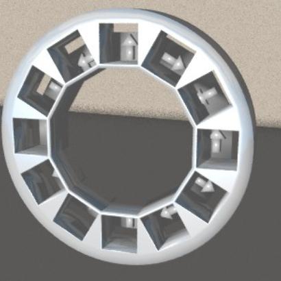 Frame for the Halbach 12 Magnet Array
