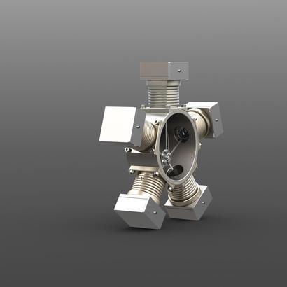 Five Cylinder Hand Crank Engine Desk Toy