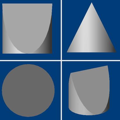 forme Rectangulaire Ronde et Triangulaire en même temps