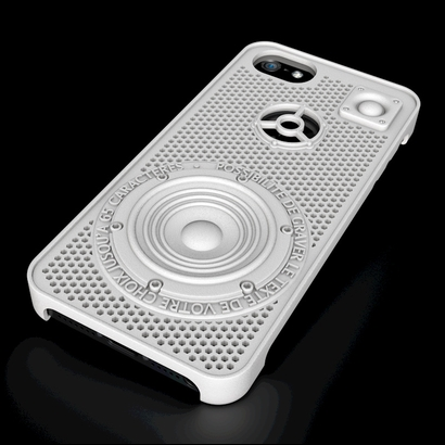 "iPhone 5 case ""loudspeaker"" customizable"