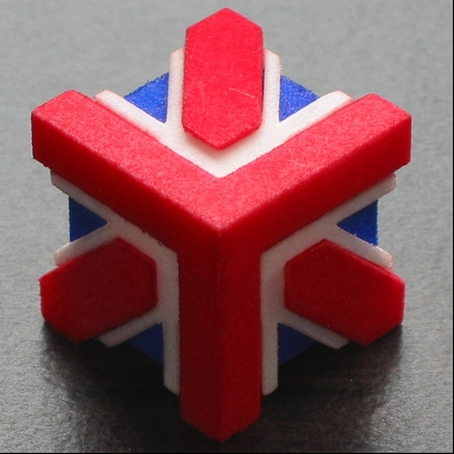 This Is A Three Dimensional Union Jack. After Some Light Sanding The Parts  Will Fit Together Very Snugly, Without Any Need For Glue. ... Union Jack  Cube