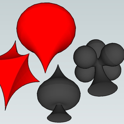 Spade, Club, Heart and Diamond