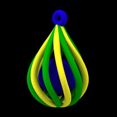 Customizable colors pendant