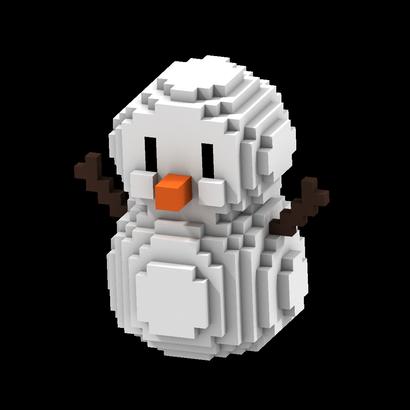 8-Bits Snowman