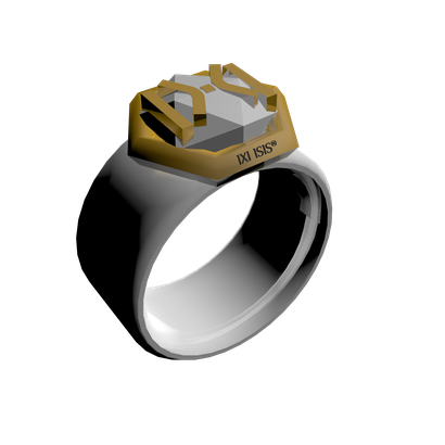 Ring (Bague) - Icosahedron Energize - IXIISIS ® Design