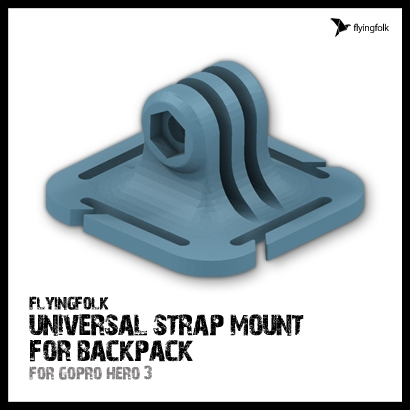 GoPro universal strap mount for backpack
