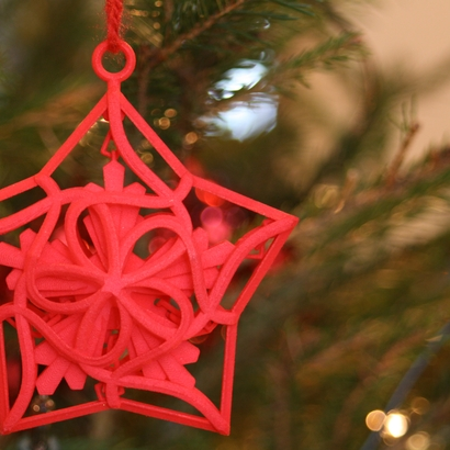 Captured Snowflake - Christmas Ornament
