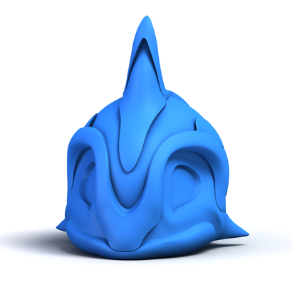 Whale Totem Blue
