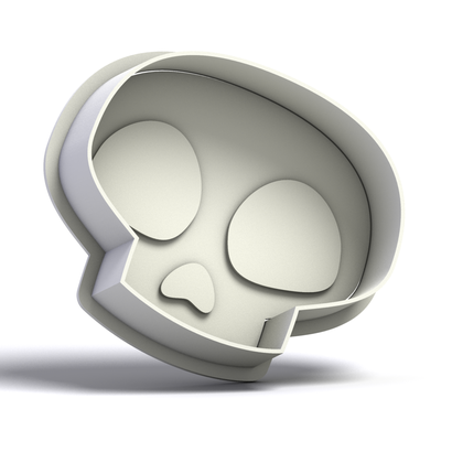 Skull Cookie Cutter and Stamp 1