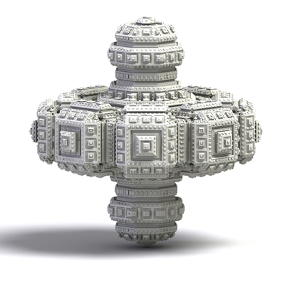 3D Fractal Spinning Top