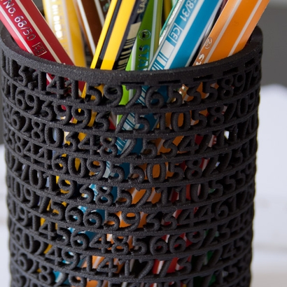 Pencil Pot : 500 digits of Pi