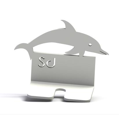 supportdeco - support brosse à dents motif dauphin
