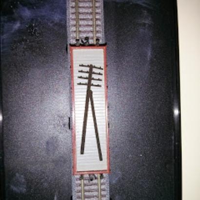 40 Z scale R style telegraph poles - fine details