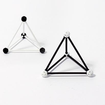 SANKAKKEI Tetrahedron #White #M-size