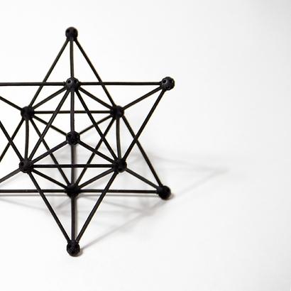 SANKAKKEI Star Tetrahedron full-pack #Black #M-size