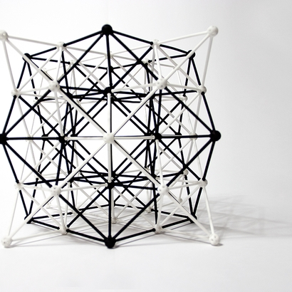 SANKAKKEI 64-Tetrahedron Cube half-pack #White #M-size