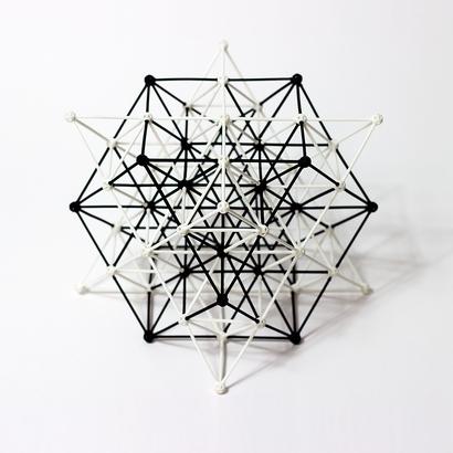 SANKAKKEI 64-Tetrahedron Cube half-pack #Black #M-size