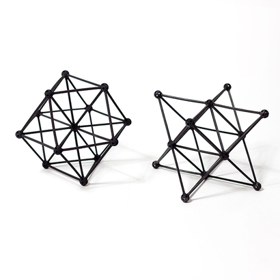 SANKAKKEI Star Tetrahedron double-pack #Black #M-size