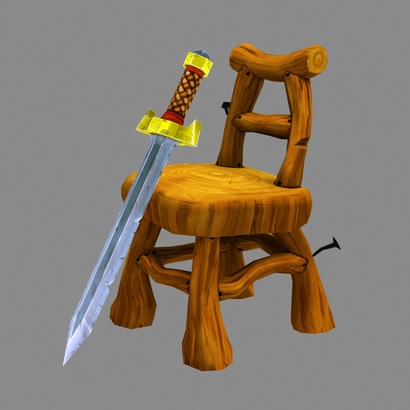 Fantasy Chair and Sword