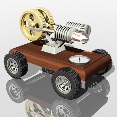 Hot motorized stirling machine