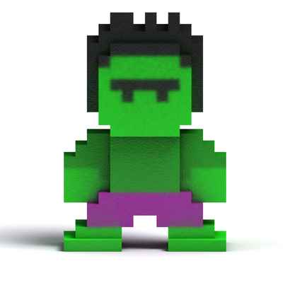 8 Bit Green Man