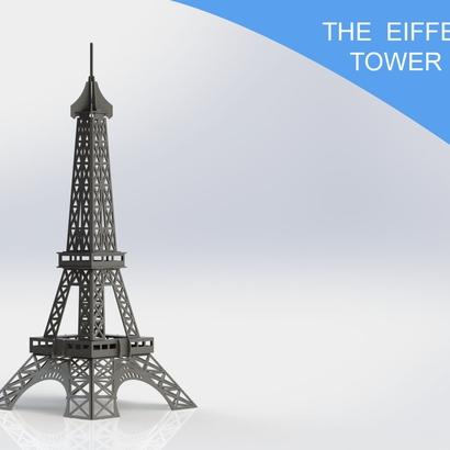 Eiffel Tower Woodcraft