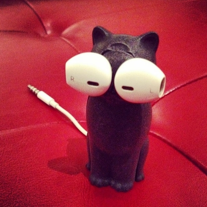 Kitty Cat Earbud Storage Case