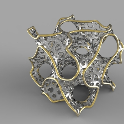 Gyroid with Voronoi structure