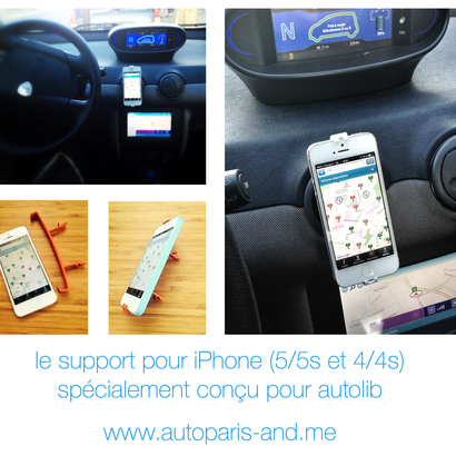 Support iPhone 4S / 4 pour Autolib