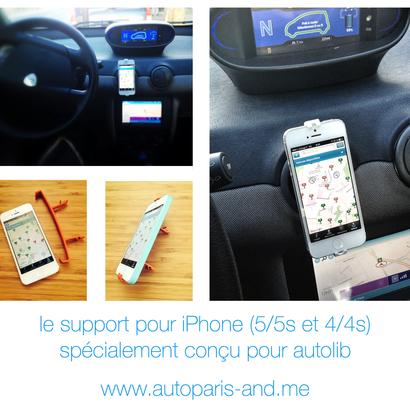 Support iPhone 4S / 4 pour Autolib