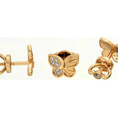 butterfly_childrens earrings