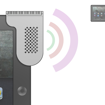 iPad3 Sound Projector - Grand Piano Design