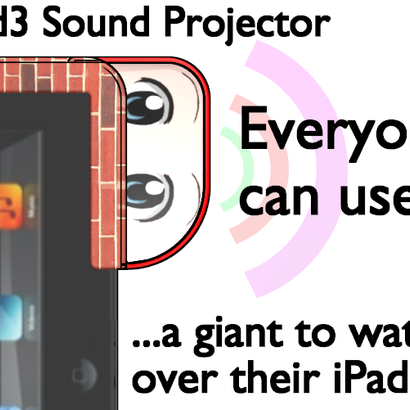 iPad3 Sound Projector - Giant On The Wall