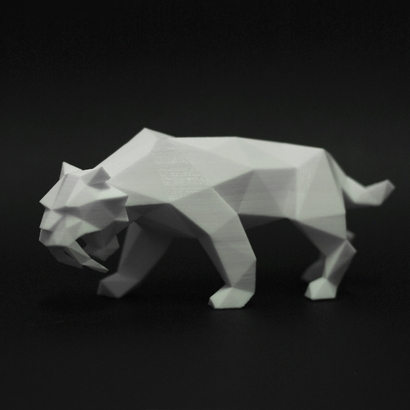 Saber Toothed Tiger Faceted