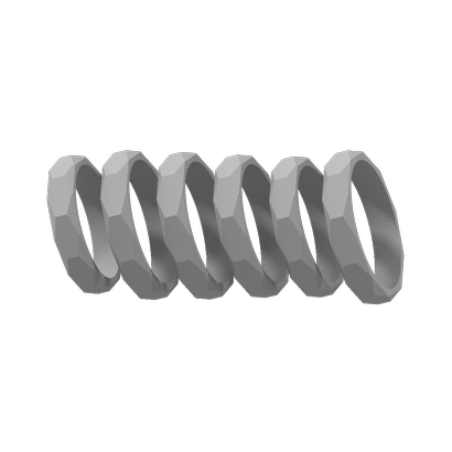 set of 6 rings size 6 to 8,5