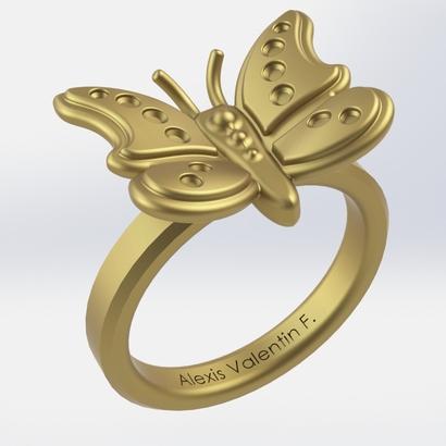 Bague papillon T56