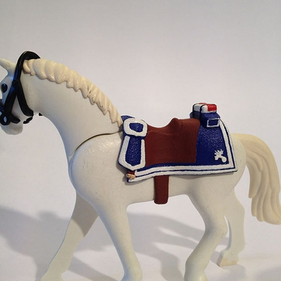 French Saddle for Playmobil