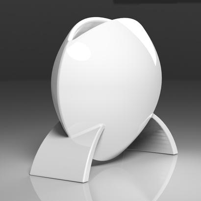 Vase en forme de disque
