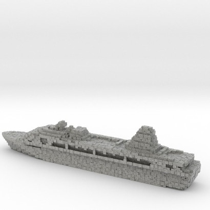Pixellated Miniature Cruise Ship
