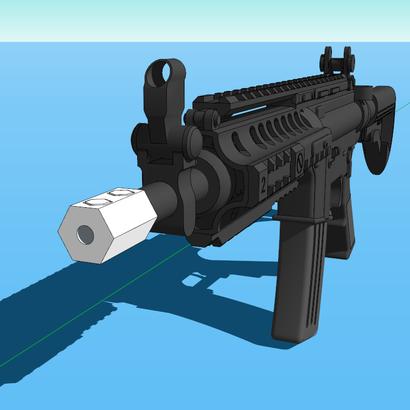 Hexagon Muzzle Suppressor (Solid)