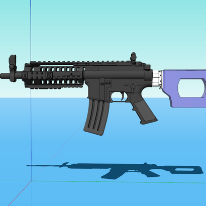 Roswell SciFi Sniper Shoulder Stock (Short) (Solid)