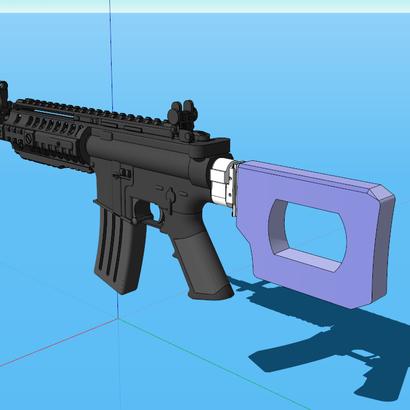 Roswell SciFi Sniper Shoulder Stock (Short) (Hollow)