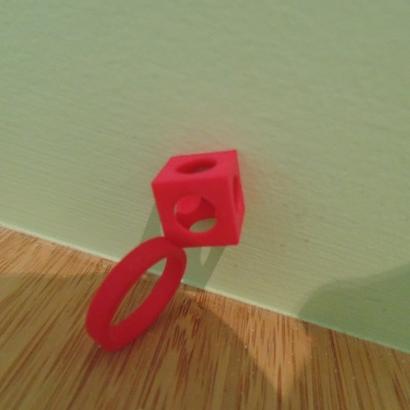 Bague Cube T52