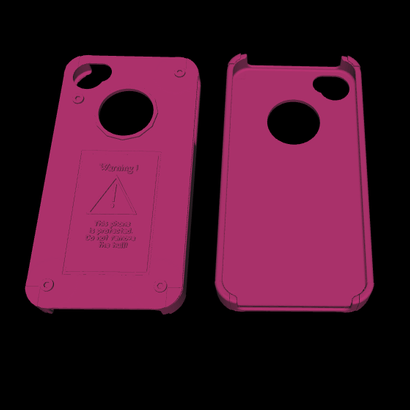 "Case Iphone 4 reinforced ""Mechanics"""