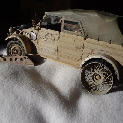 Snow Wheels for Tamiya RC-Kuebelwagen 1/16