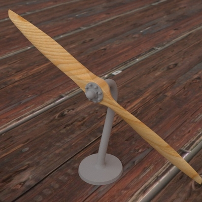 Model of wood propeller