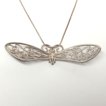 Fairy Bug Statement Pendant w/ area for initials