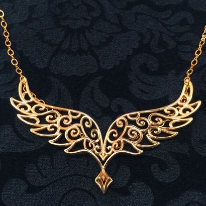 Angel Wing Pendant w/ area for Monogram