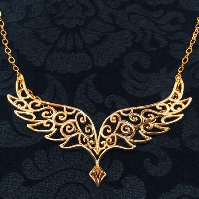 Angel Wing Pendant w/ area for Monogram