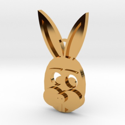 Bunny face Sculpteo pendant